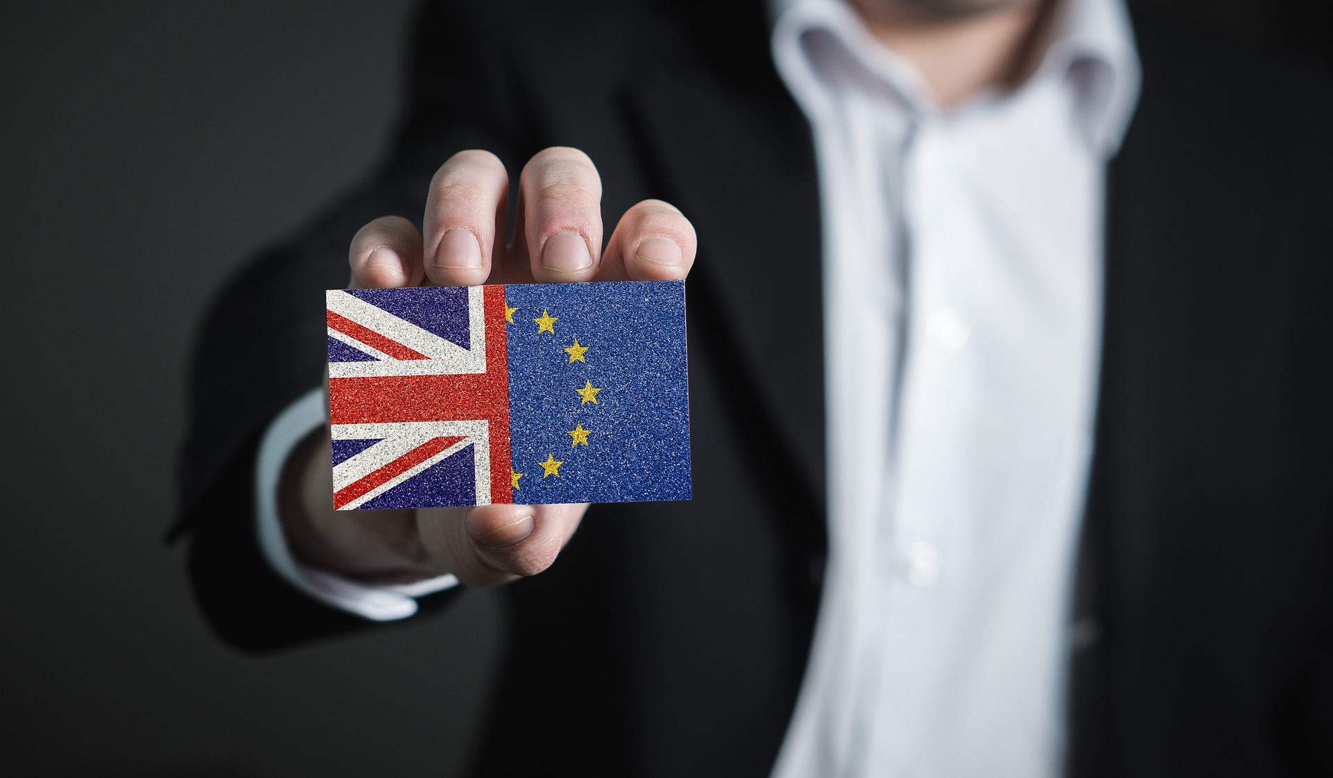 Brexit business card