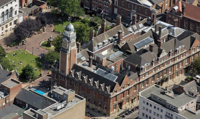 aerial-image-Leicester-town-hall
