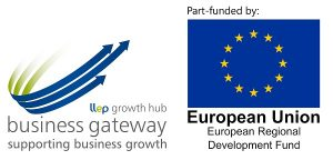 Business Gateway and ERDF logos