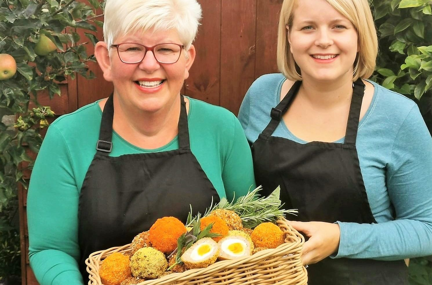 Jackie and Jemma Williamson with a selection of their home-crafted scotch eggs