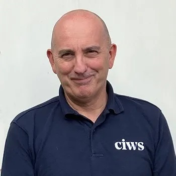 Picture shows a man - Andy Statham of CIWS
